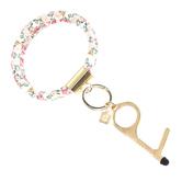 Mary Square, Clean Key Bracelet, Multicolor Lancaster Meadows Design, Multi-Purpose, Rose Gold
