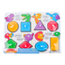 Melissa & Doug, Shapes Peg Puzzle, 8 Pieces, 8 1/2 x 11 1/2 inches, Ages 2 to 4 Years Old