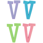 Glitter Foam Alphabet Letter Upper Case - V, 4 x 5.5 x .50 Inches, 1 Each, Assorted Colors
