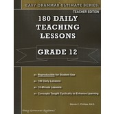 Easy Grammar Ultimate Series 180 Daily Teaching Lessons Grade 12 Teacher