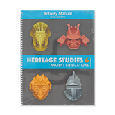 BJU Press, Heritage Studies 6 Student Activity Manual Answer Key, 4th Edition, Grade 6