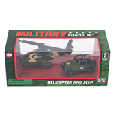 The Toy Network, Helicopter and 4x4 Military Vehicle Toy Set, 2 Pieces, Ages 3 & Older