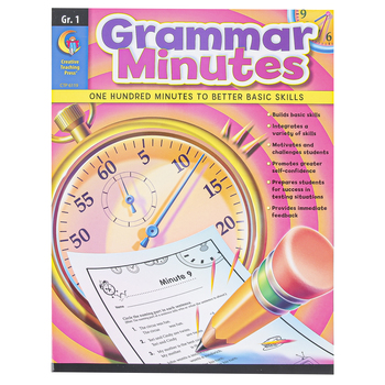 Creative Teaching Press, Grammar Minutes Workbook, Reproducible Paperback, 112 Pages, Grade 1