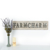 Farm Charm Wall Plaque, MDF, White and Silver, 32 x 8 x 1 1/4 inches