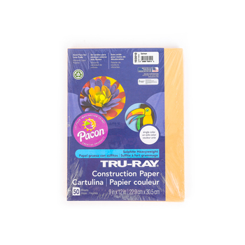 "Pacon, Tru-Ray Sulfite Construction Paper Pack, Salmon, 50Ct, 9""X12"""
