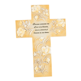Roman, Inc., Someone We Love Is in Heaven Bereavement Cross, Resin, Tan, 5 3/8 x 7 3/4 inches
