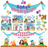 Renewing Minds, Queen Esther Bulletin Board Set, Multi-Colored, 20 Pieces