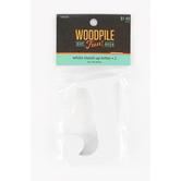 Woodpile Fun, Stand Alone Wood Letter - J, 3 inches, White