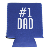 Number One Dad Koozie, Insulated Foam, Blue, 4 3/4 x 3 3/4 inches