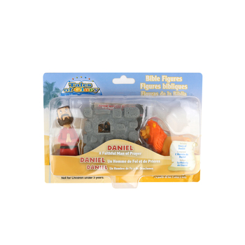Cactus Game Design Inc., Daniel and the Lion Playset, Ages 3 Years and Older, 3 Inches, 3 Pieces