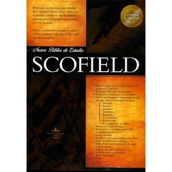 RVR 1960 Scofield Spanish Study Bible, Personal Size, Duo-Tone, Dark Chocolate