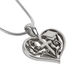 CA Gift, Blessing On Your Graduation Heart & Cross Necklace, Silver-tone, 16 inch Chain