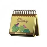 DaySpring, True Friendship Perpetual Calendar, Paper, 5-1/2 x 5-1/4 x 1-1/4 inches
