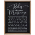 Studio His & Hers, Rules For A Happy Marriage Wall Decor, MDF, Black, 16 1/4 x 12 3/4 x 1 1/2 inches