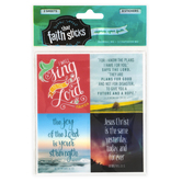 Faith that Sticks, Jeremiah 29:11 Stickers, 2 x 2.5 Inches, Clear, Pack of 8