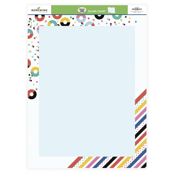 Colorfetti Collection, Customizable Blank Chart, 17 x 22 Inches, Circles, Stripes, and Dots, 1 Each