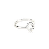 Dicksons, No Greater Love Nail Heart, Women's Ring, Silver Plated, Sizes 6-9