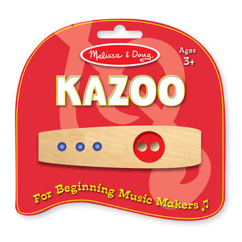 Melissa & Doug, Wooden Beginner Kazoo, Ages 3 to 10 Years, 1 x 1 x 4 1/2 inches