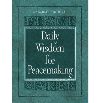 Pre-buy, Daily Wisdom for Peacemaking, by Brian Noble, Imitation Leather, Green