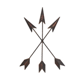 Metal Art, Three Crossed Arrows, Copper, 14 1/2 x 8 inches