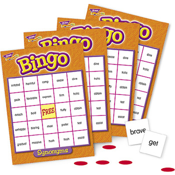 Trend, Synonyms Bingo Game, Ages 10 Years and Older, 3 to 36 Players