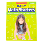 Scholastic, Daily Math Starters Grade 1 Activity Book, by Bob Krech, Paperback, 80-Pages