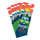 Wander Ridge Collection, Reading Is An Adventure Bookmarks, Multi Colored, 2 x 7 Inches, Pack of 36