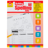 Evan-Moor, Building Spelling Skills Grade 1 Teacher's Edition, Reproducible, Paperback, 160 Pages