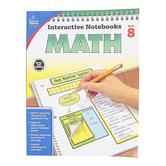 Carson-Dellosa, Interactive Notebooks Math Resource Book, Reproducible Paperback, 96 Pages, Grade 8