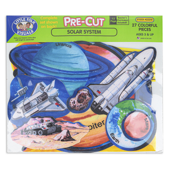 Little Folk Visuals, Pre-Cut Solar System Set, Felt, Multi-Colored, Ages 3 and Older, 27 Pieces
