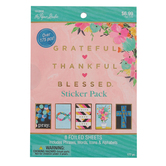 the Paper Studio, Grateful Thankful Blessed Planner and Journal Sticker Pad, 5 x 7 inches, 177 Stickers