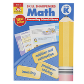 Evan-Moor, Skill Sharpeners Math Activity Book, Paperback, 144 Pages, Grade K