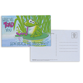 Broadman Church Supplies, Have We Toad You We Miss You Postcards, 5 1/2 x 3 1/2 inches, Set of 25