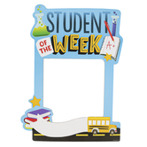 School Shop, Custom Photo Booth Frame Student of the Week BTS, Multi-Colored, 15 x 20 Inches, 1 Each