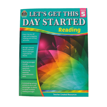 Teacher Created Resources, Let's Get This Day Started: Reading Grade 5, Paperback, 112 Pages, Grade 5