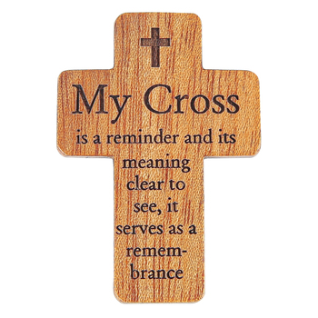 H.J. Sherman, My Cross Pocket Cross, Wood, 1 3/4 inches
