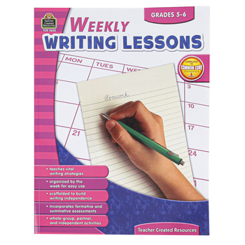 Teacher Created Resources, Weekly Writing Lessons, Reproducible Paperback, 112 Pages, Grades 5-6
