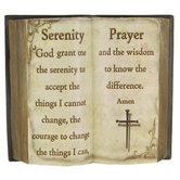 Serenity Prayer Tabletop Plaque, Resin, 4 x 5 1/2 inches