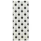 Brother Sister Design Studio, Tissue Paper, White & Black Polka Dots, 20 x 20 inches, 8 Sheets