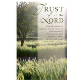 Salt & Light, Trust In The Lord - Field Church Bulletins, 8 1/2 x 11 inches Flat, 100 Count