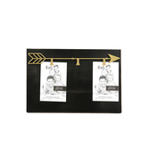 Green Tree Gallery, Wood Panel Style Clip Frame with Gold Arrow, Black, 3 Clips