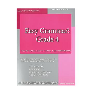 Easy Grammar Grade 4 Teacher
