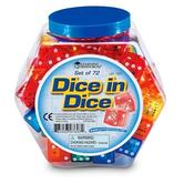 Learning Resources, Dice in Dice, Ages 3 Years and Older, Assorted Colors, 72 Pieces