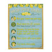 Teacher Created Resources, Lemon Zest Wash Your Hands Chart, 17 x 19 Inches