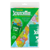 Round World Products, World Scrunch Map, 36 x 24 Inches, 2 Pieces, Grades K-Adult
