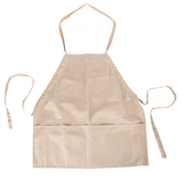 Two Lumps of Sugar, Striped Utility Apron, Cotton, Light Brown, Adult Size