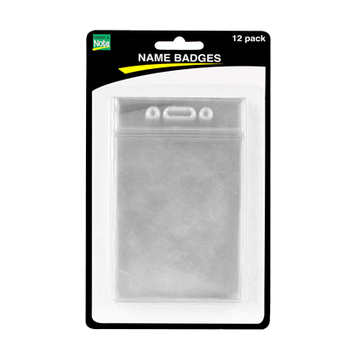 Renewing Minds,Vertical Name Badge Holders, Clear, 2.5 x 4 Inches, 12/PK
