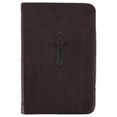Christian Art Gifts, Cross Pocket-sized Journal, Leather, Brown, 192 Pages
