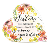 Roman, Inc., Sisters Are Different Flowers From The Same Garden Musical Heart, 3 1/2 inches