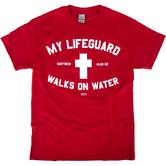 Kerusso, Matthew 14:22-32 My Lifeguard, Men's Short Sleeve T-Shirt, Red, S-XL